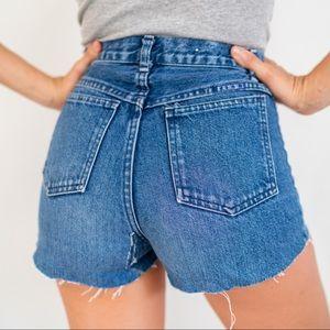 Vintage High Denim Cut Off Jean Shorts Cutoffs XS